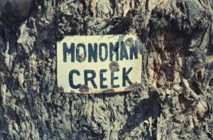 Monoman Island sign Paddling Trails South Australia